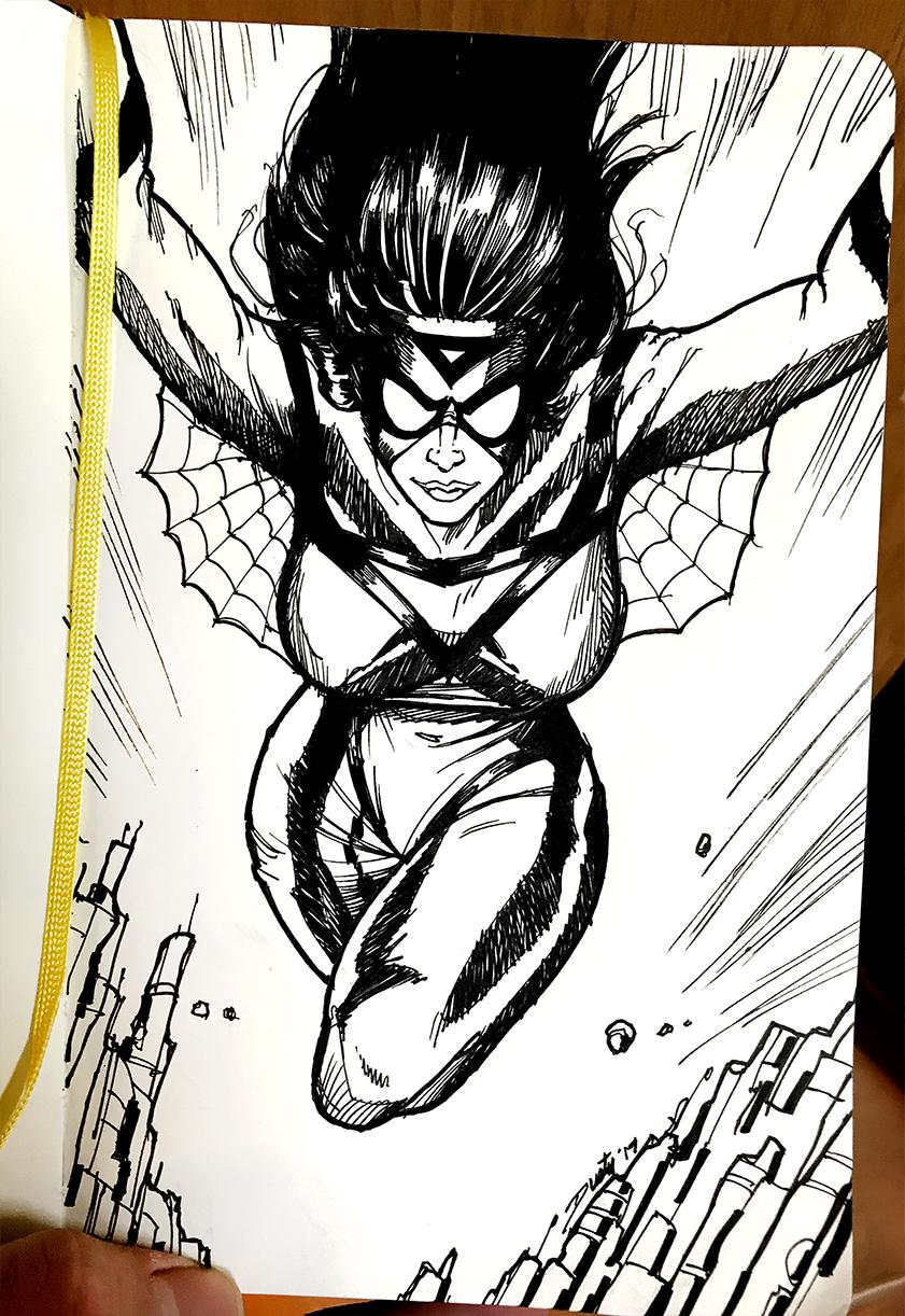 Spider-Woman in Moleskine